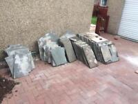 Natural grey slabs