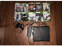 Xbox 360 Slim 250GB + Controller & 10 Games