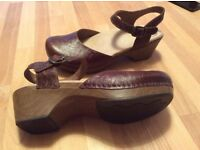 Brown Dansko Clogs/Sandals, size 5.5