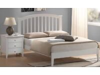King size bed, excellent condition, solid white wood
