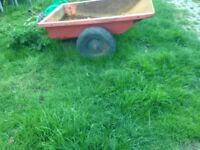 Small quad / ride on lawnmower tipping trailer