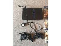 PS2 with 2 Controls and 11 Games