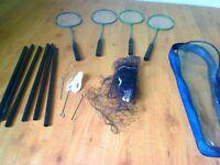 Badminton set with 4 Rackets plus Net plus 2 Shuttle cocks, Excellent condition!