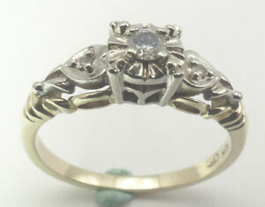 Re-finished diamond engagement ring