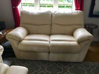 2 Seater Recliner Sofa Cream