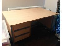 Large desk with 3 drawers.
