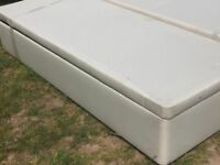 Cream king Size Myers Ottoman Lift Up Bed Base