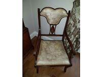 Elegant Edwardian chair for sale