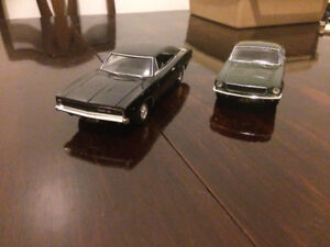 Bullitt Mustang and Charger with Hot Wheels Diecast Lot