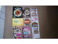 Weight Watchers Recipe book, recipe cards, DVD & various items