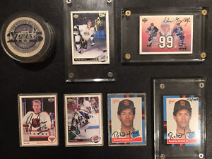 Autographed Sports Cards, Puck, Ball