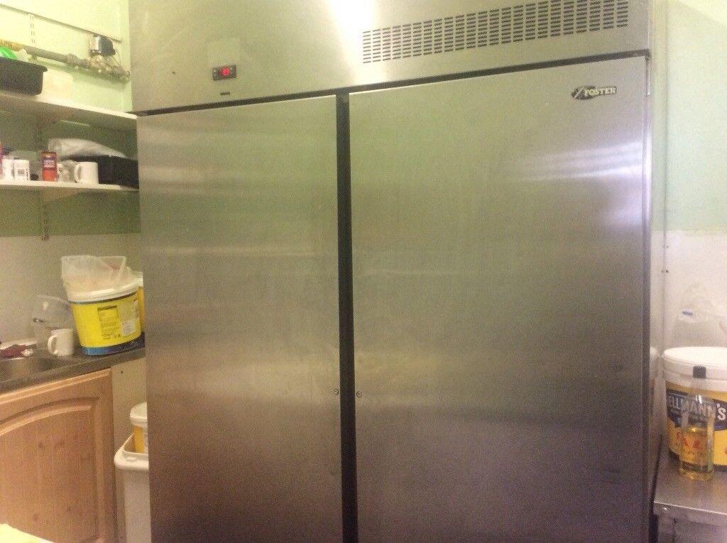 Foster double door fridge 450 and 5 ft chest freezer 100