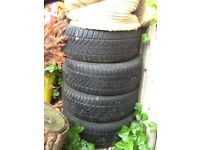 VW golf winter tyres and spoked alloy wheels