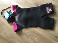 Girls Short wetsuit. New with tags. Size 6