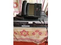 MITEL telephone system with telephones