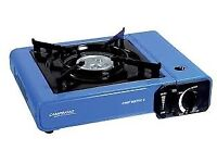 Nearly-new 'Campingaz' camping stove including kettle and gas - perfect for holidays or festivals
