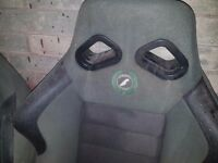 2 x race bucket seats
