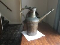 Old brass and copper heavy jug