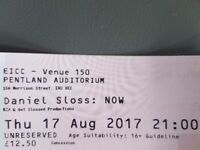 Face Value Ticket for Sold Out Daniel Sloss Tonight, Thursday 17 August