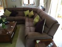 Nearly new electric reclining corner sofa