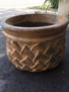 Large Clay Decorative Flower Pot