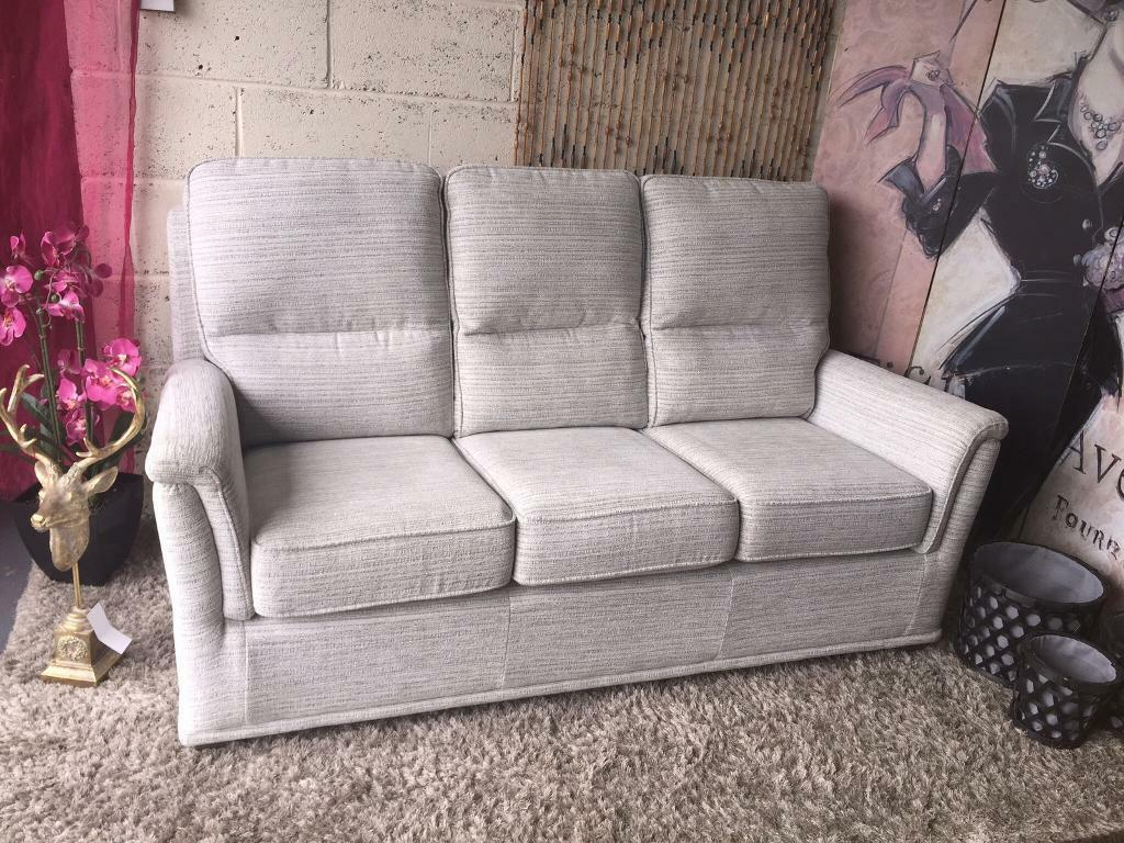 Furniture Village G Plan new furniture village g plan bronte 3 seater sofa in chalk hopsack