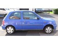 Nissan micra s 998cc X reg (2000) petrol blue 103,092 miles. spares or repair