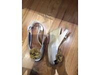 Clarks Wedge Shoes 4 1/2 UK Used
