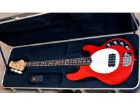 Musicman Stingray - 3EQ - 4 String Bass - Translucent Red - Excellent Condition
