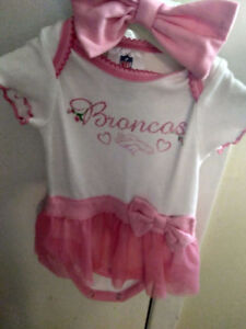 Denver Broncos 3-6 mths baby girl outfit