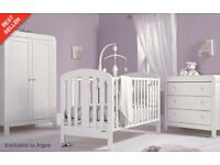 Nursery set_ cot , drawers with changer table on top, wardrobe