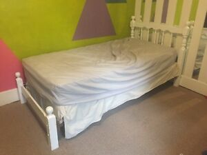 Kids White Wooden Twin/Single Bed Frame
