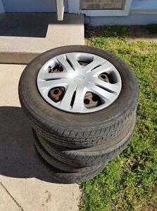 Used Summer Tires on Rims - 175/65R15