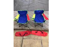 Pair of kids camping chairs