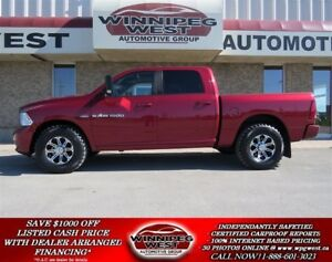 2012 Dodge Ram 1500 SPORT CREW 4X4, HEMI, SUNROOF, NAV, LEATHER!