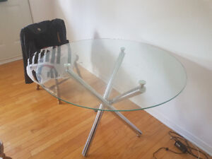 table en verre ronde - round glass table