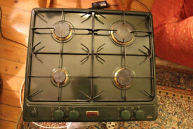 Stoves green enamel electric double oven and gas hob. Standard width. Excellent condition