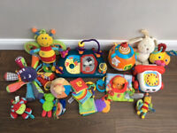 Lovely selection of baby toys, vgc