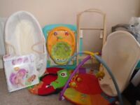 Bundle of baby equipment