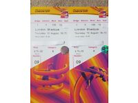 2 x IAAF World Championship ( 200m and Triple Jump Finals ) Thurs 10th Aug