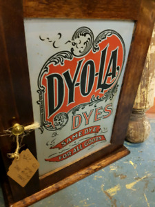 DY-O-LA Dyes Cabinet Display Advertising Vintage Anrmtique