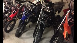 Dirt bikes pit bikes 4 speed manual