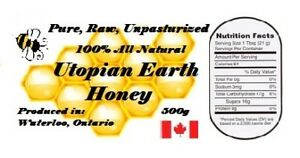 Utopian Earth, All natural, Pure, Raw, Unpasteurized, honey.