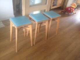 3x retro stool with vinyl tops fro restoration