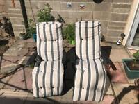 Garden recliner chairs
