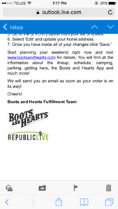 Boots & Hearts Full General Event Ticket