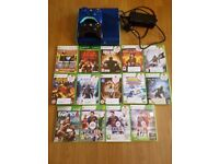 XBOX 360 E - Arctic edition; 500 GB HDD, 2 wireless controllers, 26 games!