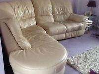 Leather recliner corner sofa can deliver