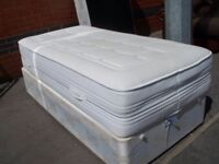 Single Divan bed in Excellent Condition very firm comfy mattress good for back deliver free local