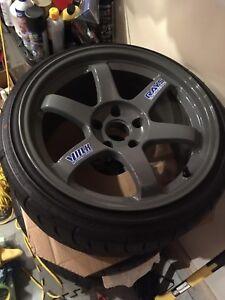 Fs: ultra rare volk racing te37 wheels with new falken tires